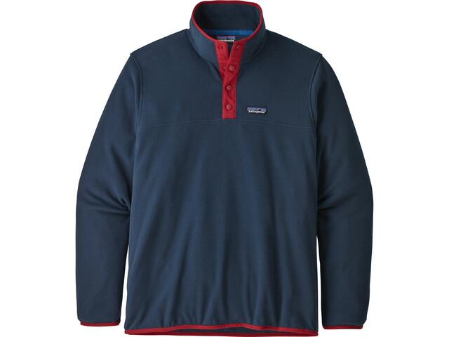 Patagonia Micro D Snap-T Pullover Hombre, azul/rojo